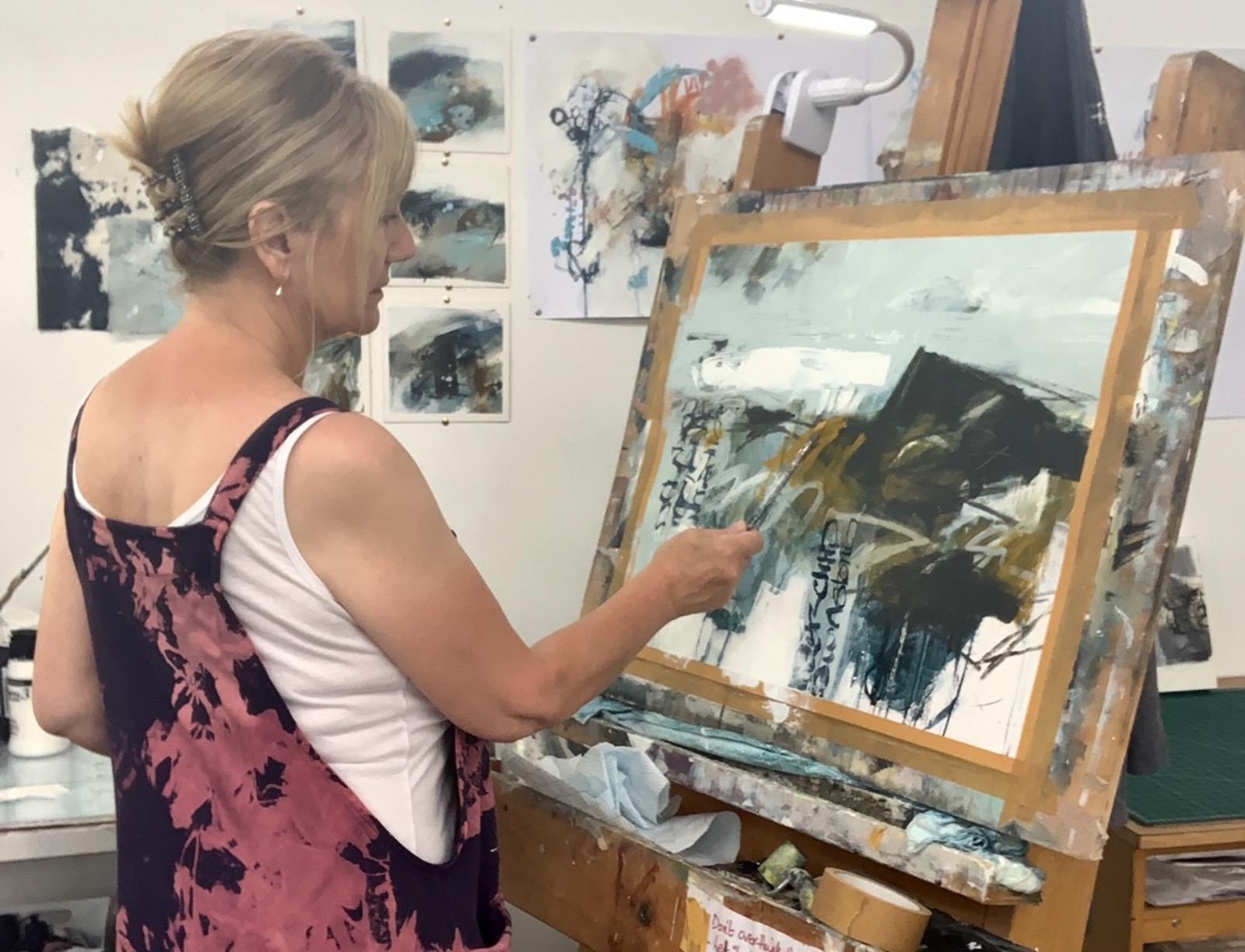 Artist Mari French in her studio
