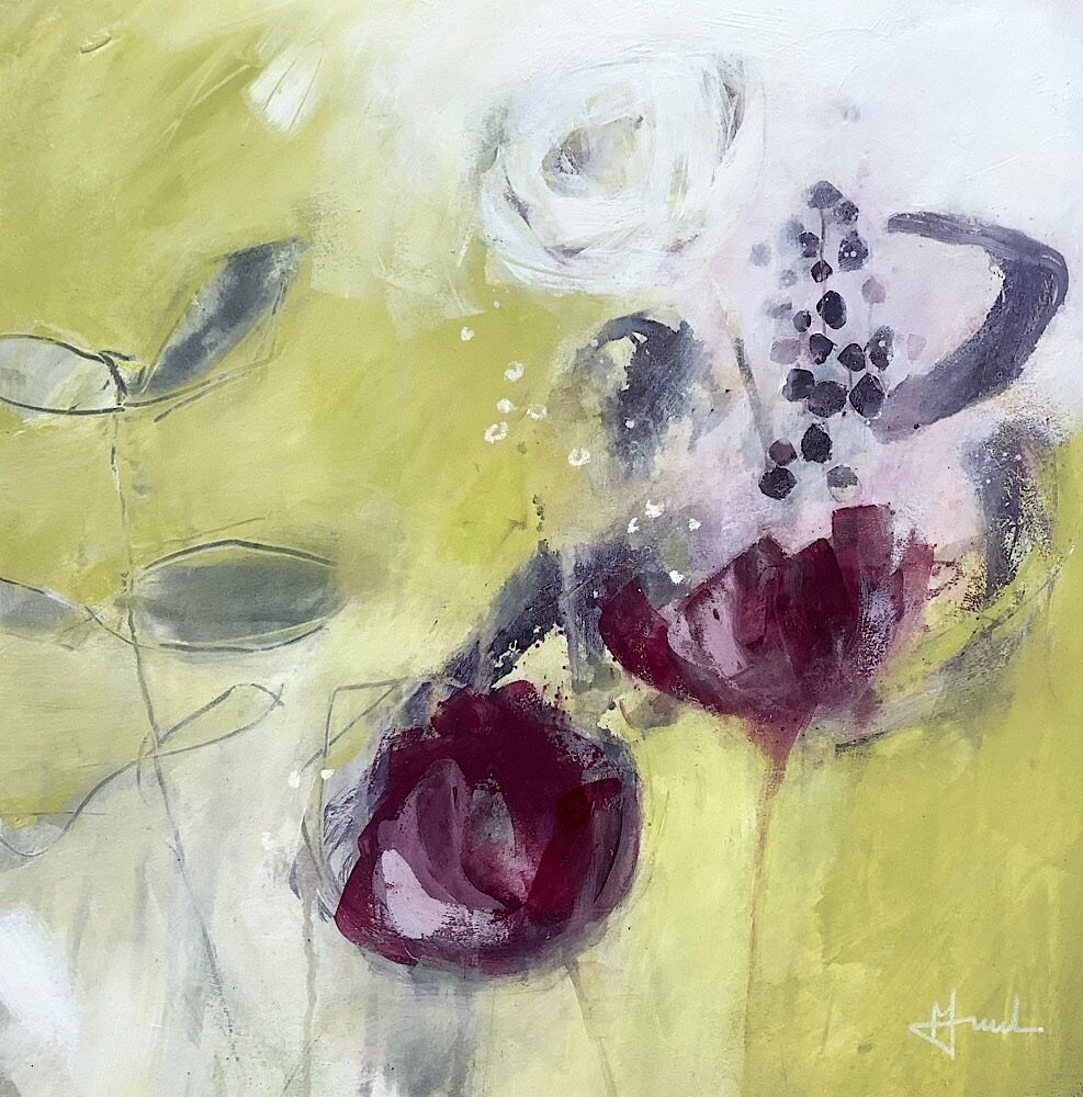 abstract-flower-painting-in-mixed-media-on-paper