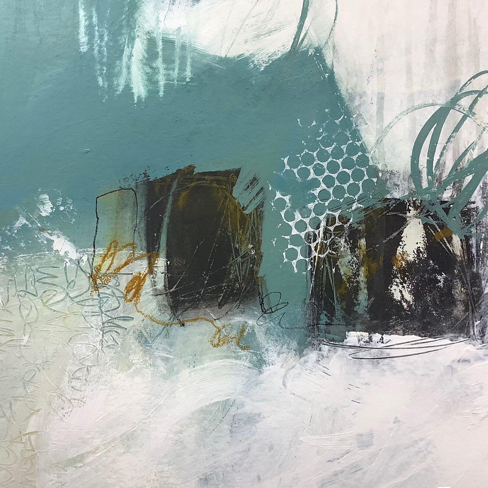 abstract painting of Cornish coast