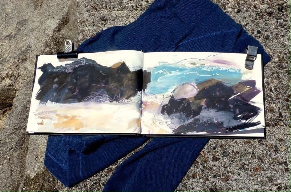 Cornwall-sketchbook-by-Mari-French-artist
