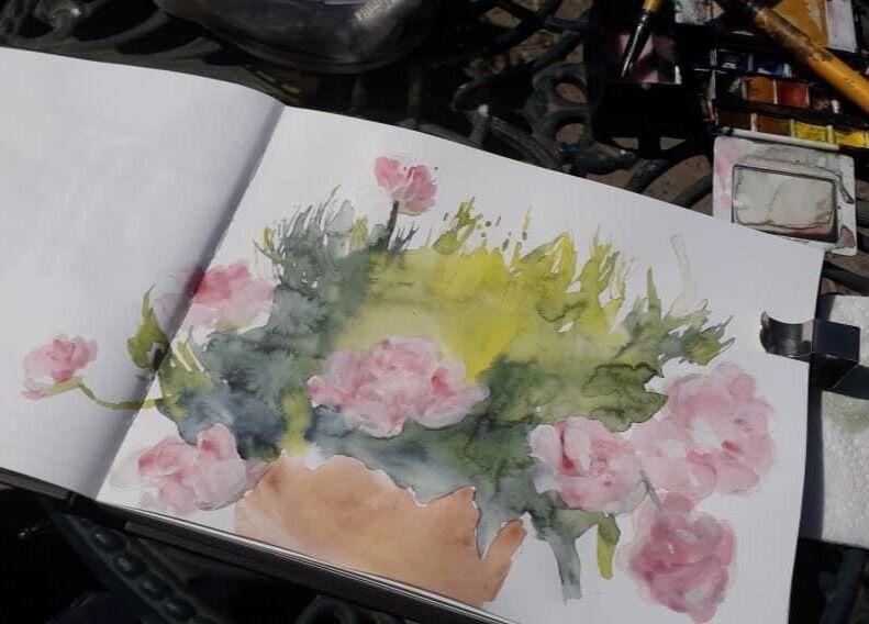 Mari-French-sketchbook-flowers
