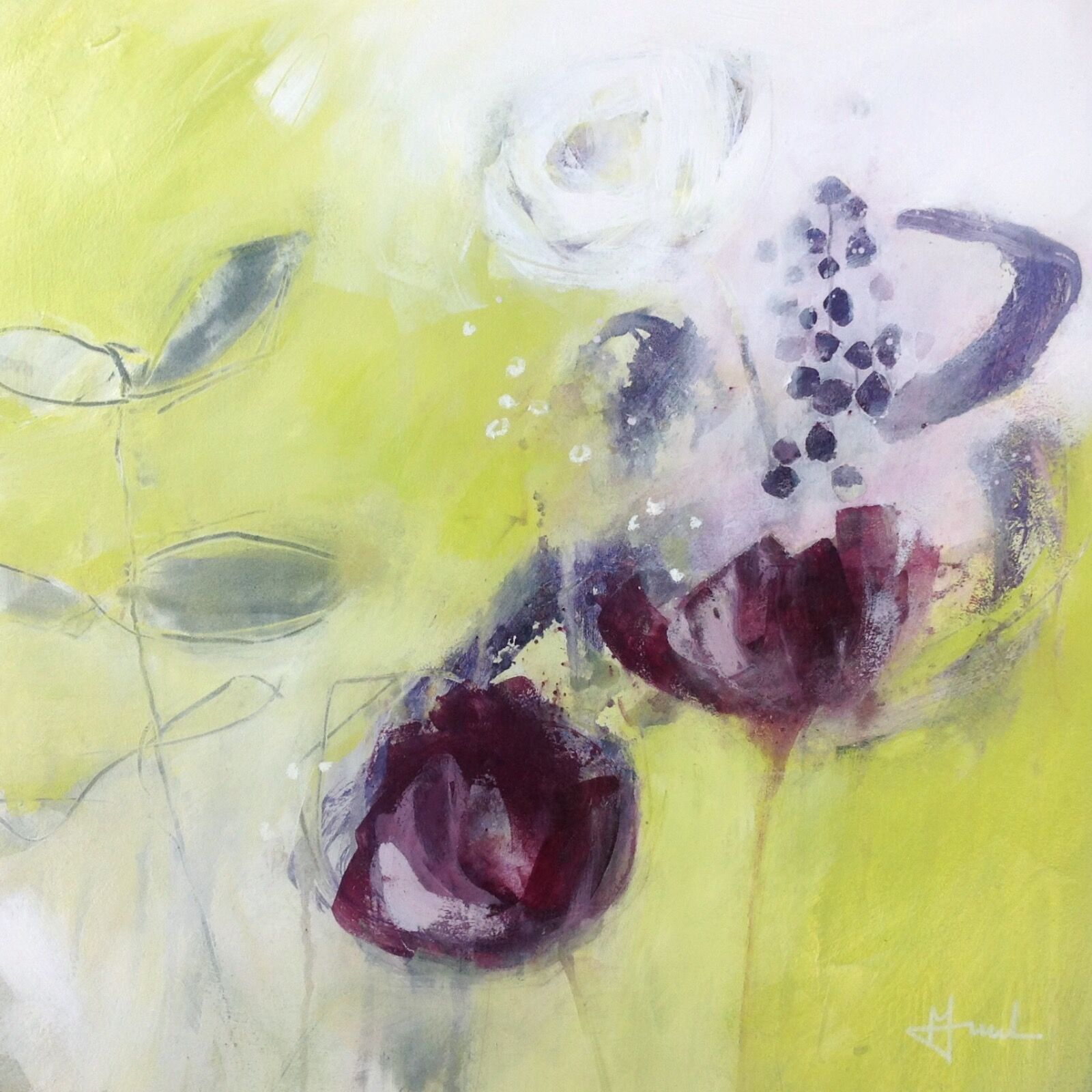 Abstract-painting-of-garden-flowers