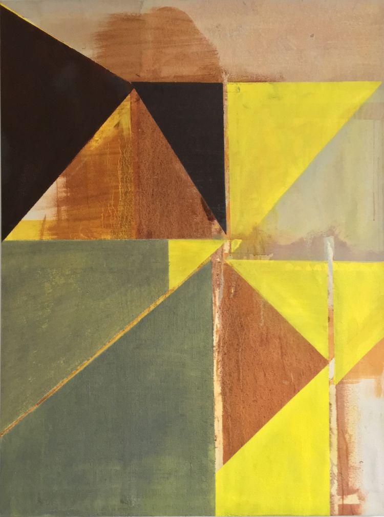 Yellow Triangles 76x102cm