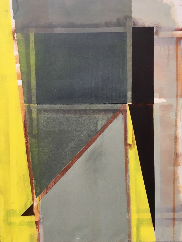Yellow Triangles 2. 76x102