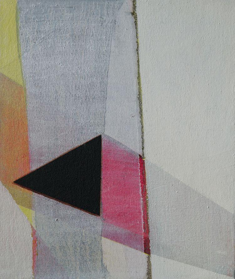 The Line 1 . Triptych - 31x36cm
