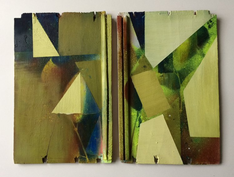 Catflap  (diptych each panel 22x42cm )