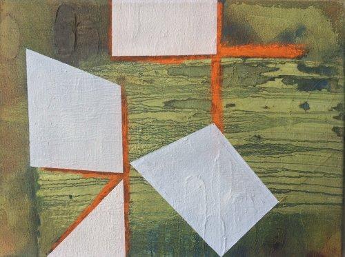 Orange lines. 30x40cm
