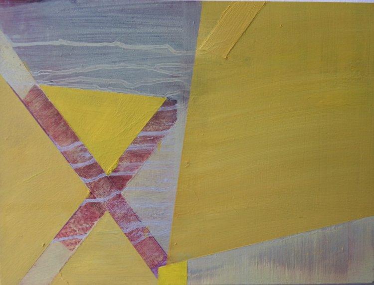 Rhubarb Triangle 1 30x40cm