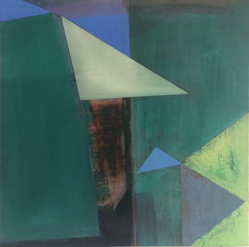 Opening Out Green 2 76x76cm NA