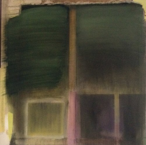 Green and Pink Zone Painting 81x81cm