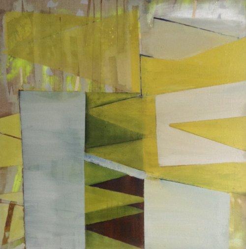 Yellow Halls 81x81cm