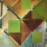 Tilted Greens 1 76x76cm