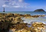Trwyn Dwr lighthouse & Puffin Island.