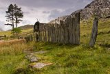 Chapel Cwmorthin & slate fence.