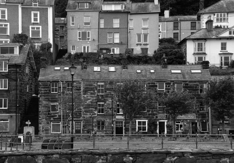 Architecture around Porthmdog Harbour.
