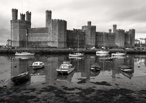 Caernarfon Castle mono.