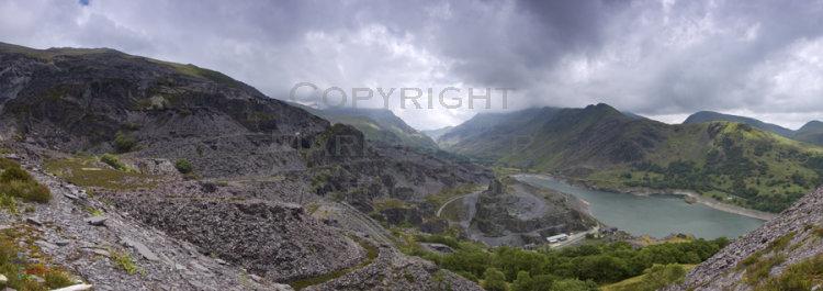 Chwarel Dinorwig & Llanberis Pass.