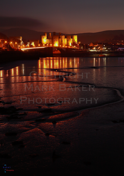 Conway Castle Reflections.