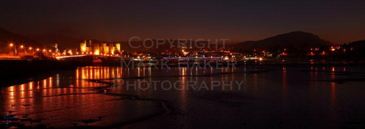 Conway at night pano.