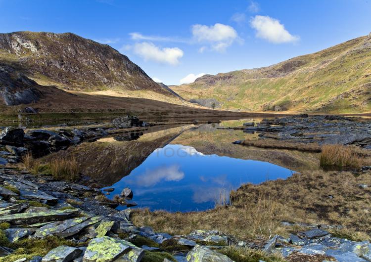 Llyn Cwmorthin reflections.