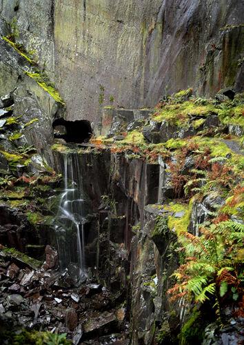 Hidden waterfall.