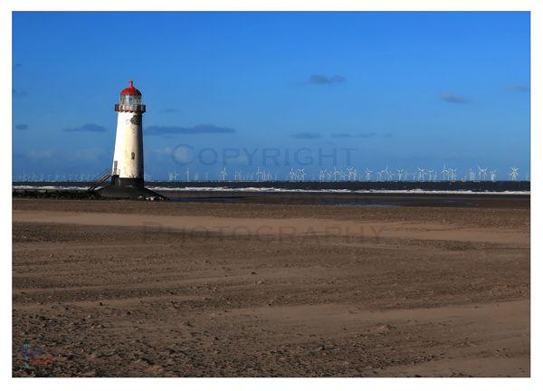 Lighthouse & windfarm.