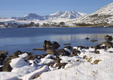 Llynnau Mymbyr & Snowdon horseshoe in winter.