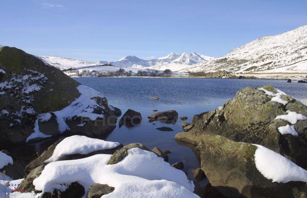 Llynnau Mymbyr in winter.