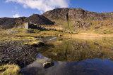Quarry barracks and lake reflections.
