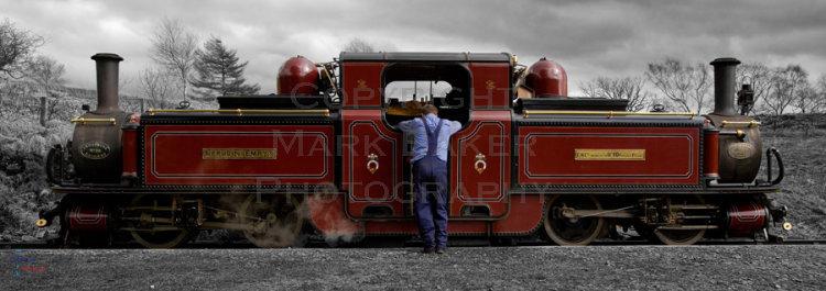 Study of a Double Fairlie Locomotive.