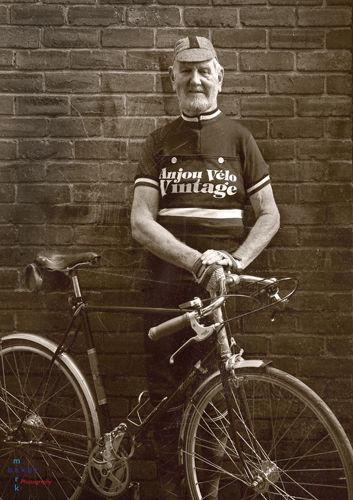 Vintage cyclist portrait 2.