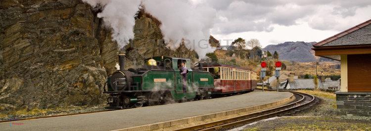Earl of Meirionydd at Tanygrisiau, Festiniog Railway.