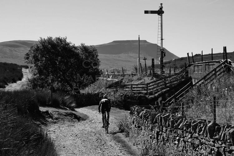 Lone rider & signal.