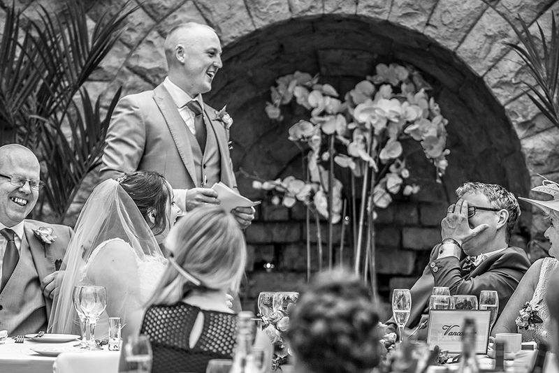 Another Groom gets a grilling in the speeches.