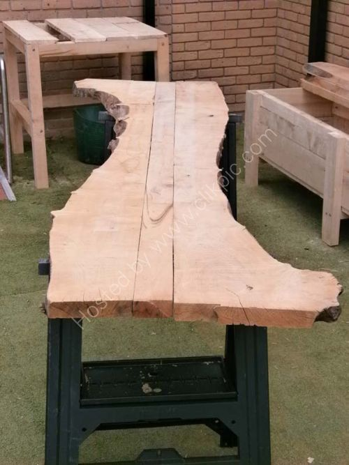 Sweet chestnut planks put together