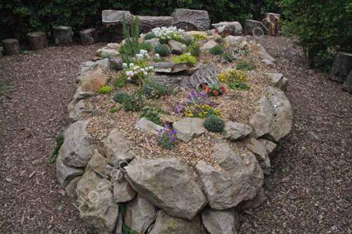 Rock garden and outdoor classroom area
