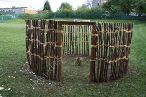 Hazel uprights completed