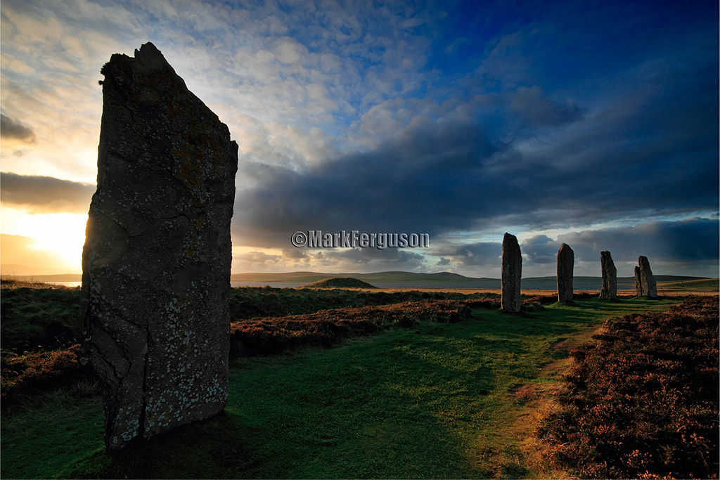 Ring of Brodgar into the light
