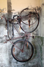 Hanging WW2 bike