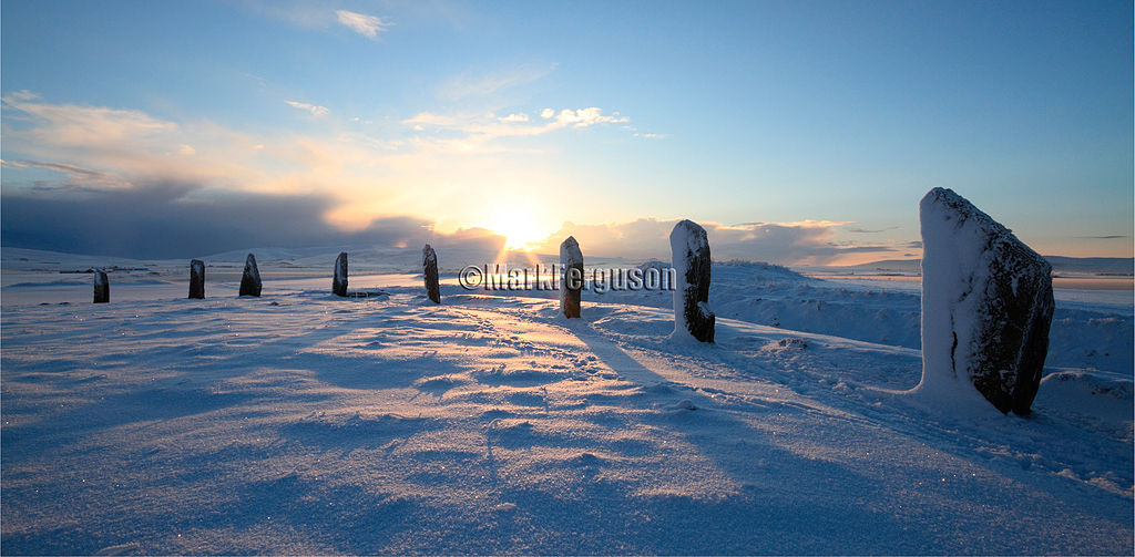 Winter sunrise at the Ring of Brodgar