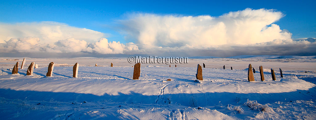 Ring of Brodgar winter panoramic