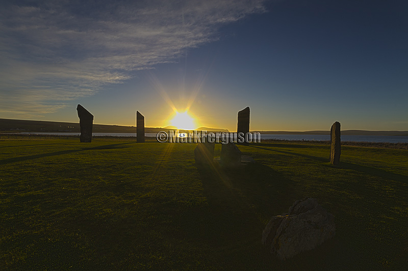Stenness Stones winter sunset