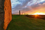 Ring of Brodgar midsummer sunset
