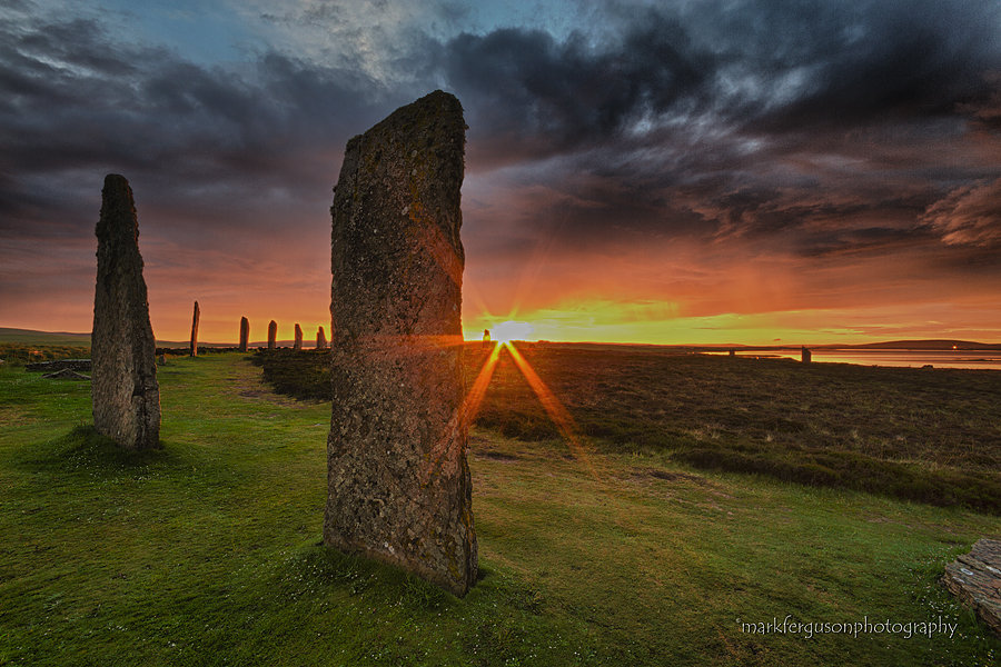 Midsummer sunset, Ring of Brodgar