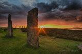 Midsummer sunset, Ring of Brodgar