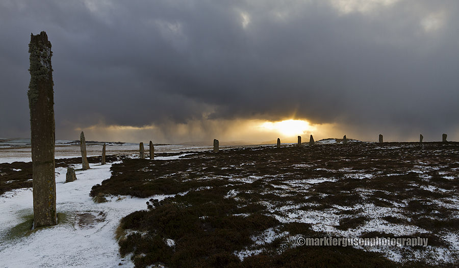 Ring of Brodgar winter panorama