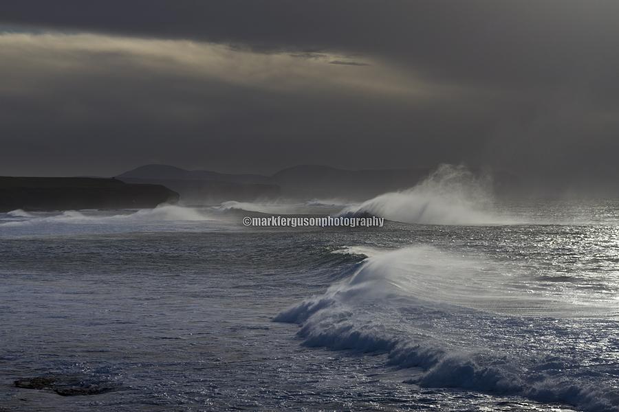 Rough seas at Marwick Head