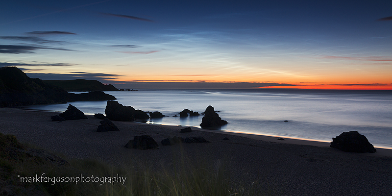 Noctilucent clouds at Sango Sands