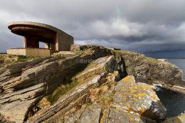 Gun batteries overlooking Scapa Flow