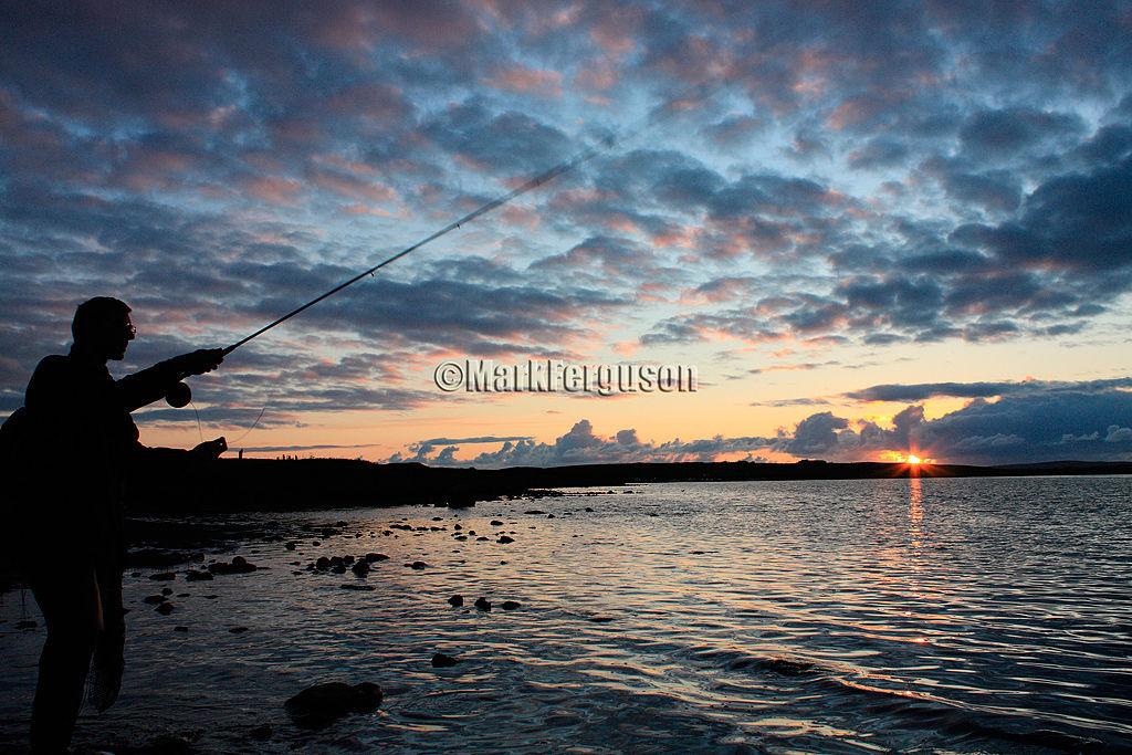 Midsummer night fishing